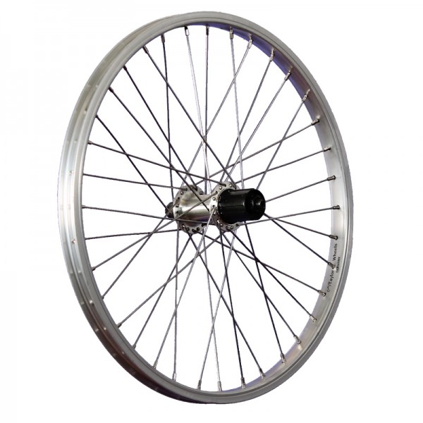 20inch bike rear wheel FH-TX500 7-10 cassette quick release silver
