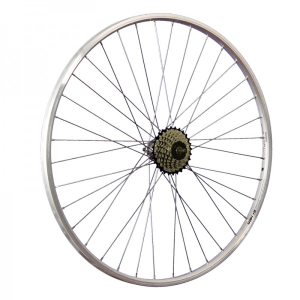 28inch bike rear wheel YAK19 freewheel 7 speed silver