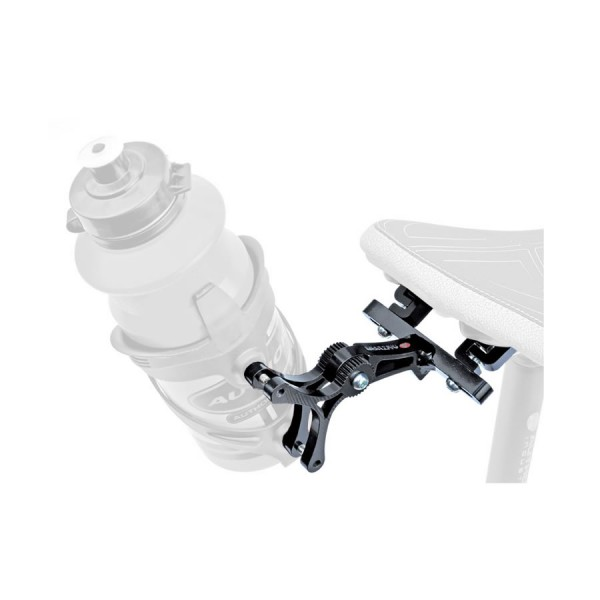 bicycle adapter for 2 bottle holders AO-S1 for mounting on saddle black