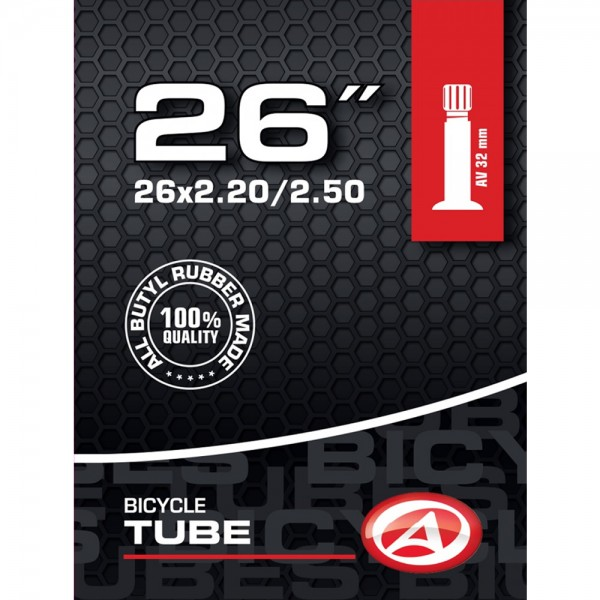 Bicycle tube butyl 26 inch AV valve 32mm 50 / 65-559 MTB ATB City