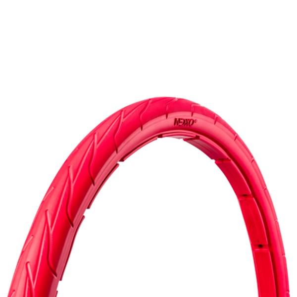 20 Zoll Fahrrad Reifen airless tubeless Mantel pannensicher 44-406 rot