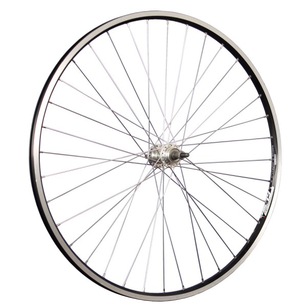 28inch bike rear wheel ZAC19 for cogset 622-19 black/silver