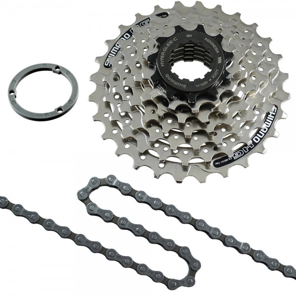 Replacement set cassette 7 speed HG40 chain and cassette HG41