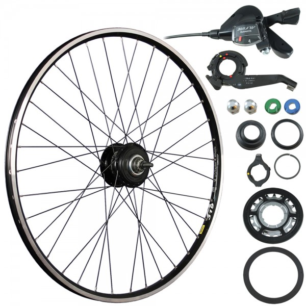 28inch bike rear wheel A319 ALFINE 8-speed Disc/V-Brake black