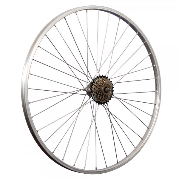 28 inch rear wheel alloy with 6-speed freewheel
