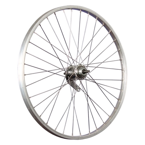 24inch bike rear wheel aluminium coaster stainless steel 507-19 silver