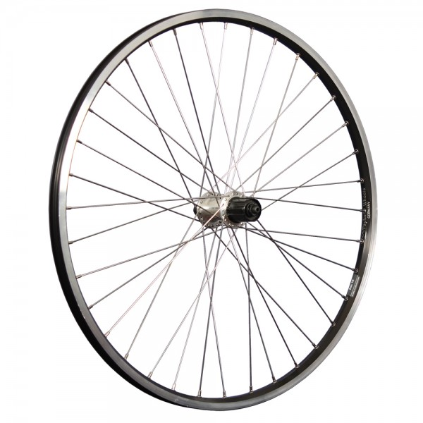 26inch bike rear wheel ZAC19 Shimano Tourney 7-10 black/silver