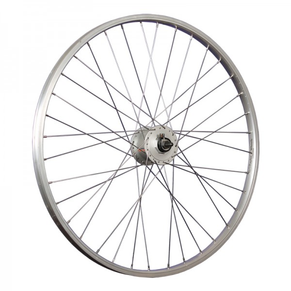 24inch bike front wheel hub dynamo SHIMANO DH-C3000 stainless steel silver