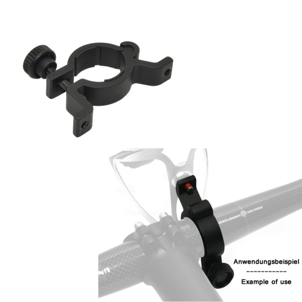 Bicycle adapter for bottle cage AO-R5 for handlebar mounting black