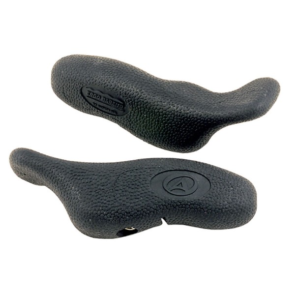 Bicycle bar ends ABE-402 short ergonomic shape secure grip 22,2mm black