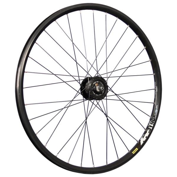 26inch bike front wheel XM319D with hub dynamo Alfine DISC black