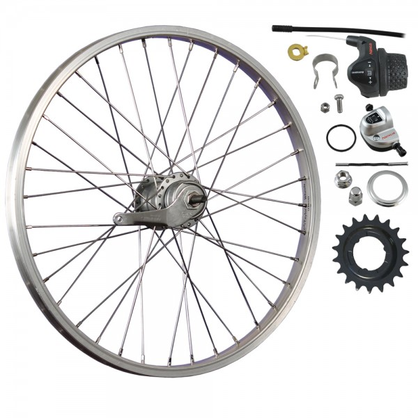 20inch bike rear wheel Nexus Inter-3 coaster silver
