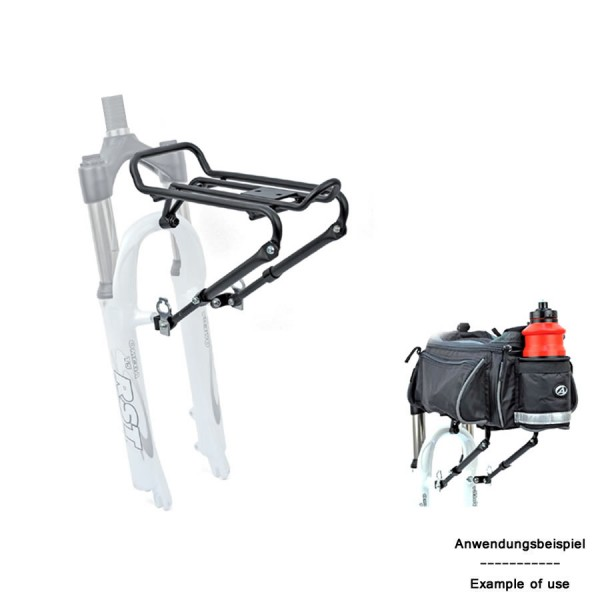 bicycle rack ACR-30 front aluminum fork mounting 5Kg black