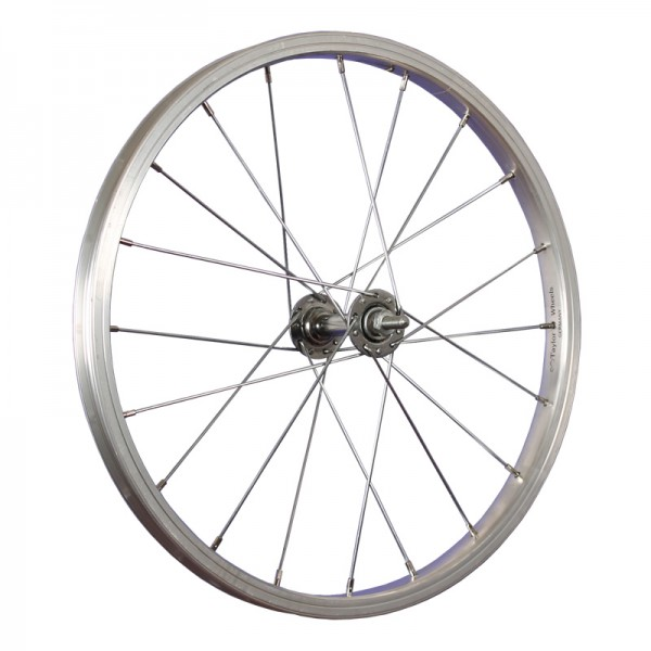 18inch bike front wheel aluminium hub stainless steel 355-19 silver