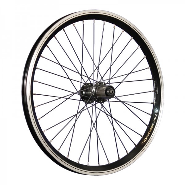 20inch bike rear wheel doublewall 7-10 speed cassettes qr black