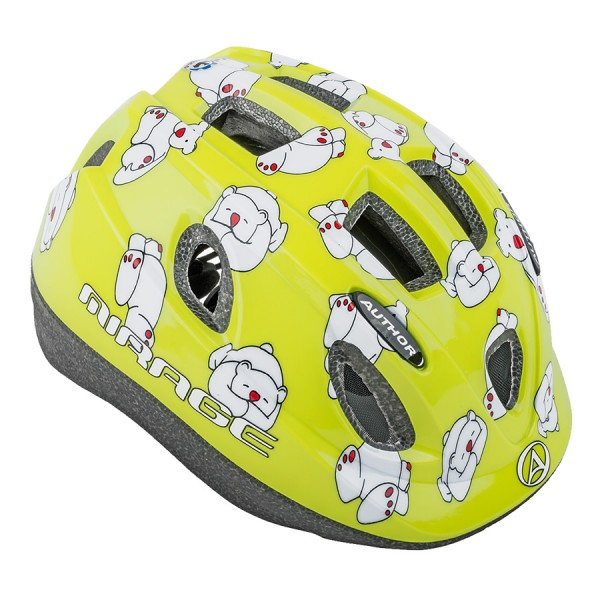 Bicycle helmet Mirage children helmet size S 48cm-52cm polar bear green